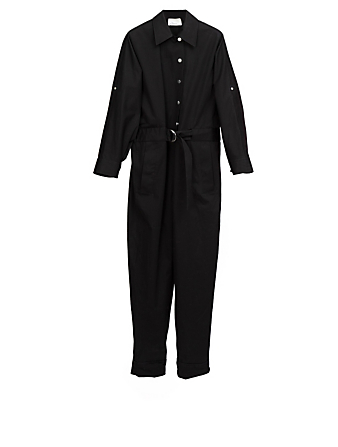 3.1 PHILLIP LIM Cotton-Blend Utility Jumpsuit Women's Black