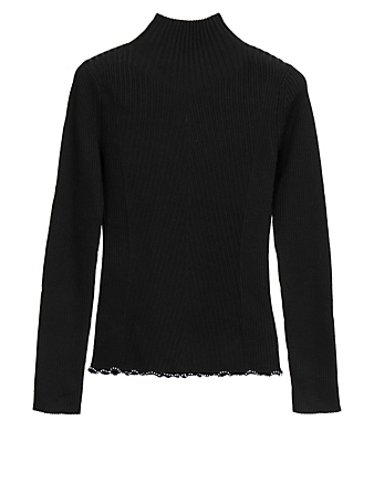 3.1 PHILLIP LIM Wool Turtleneck Ribbed Sweater Women's Black