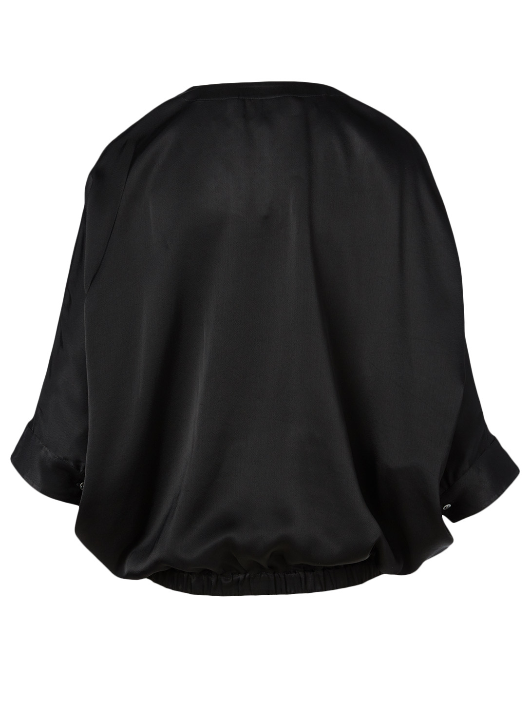 3.1 PHILLIP LIM Satin Dolman-Sleeve Blouse Women's Black