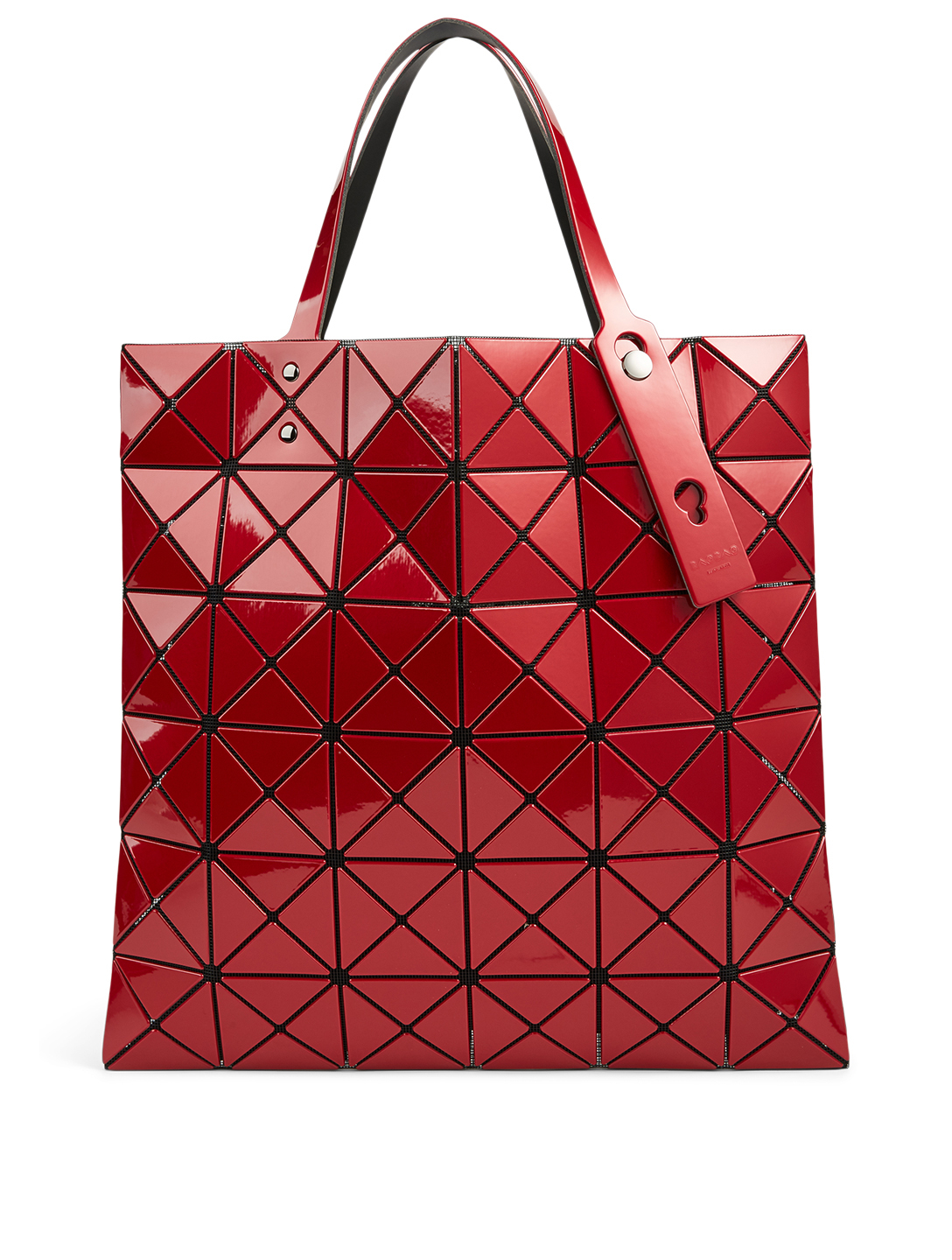 BAO BAO ISSEY MIYAKE Lucent Metallic Tote Bag Women's Red