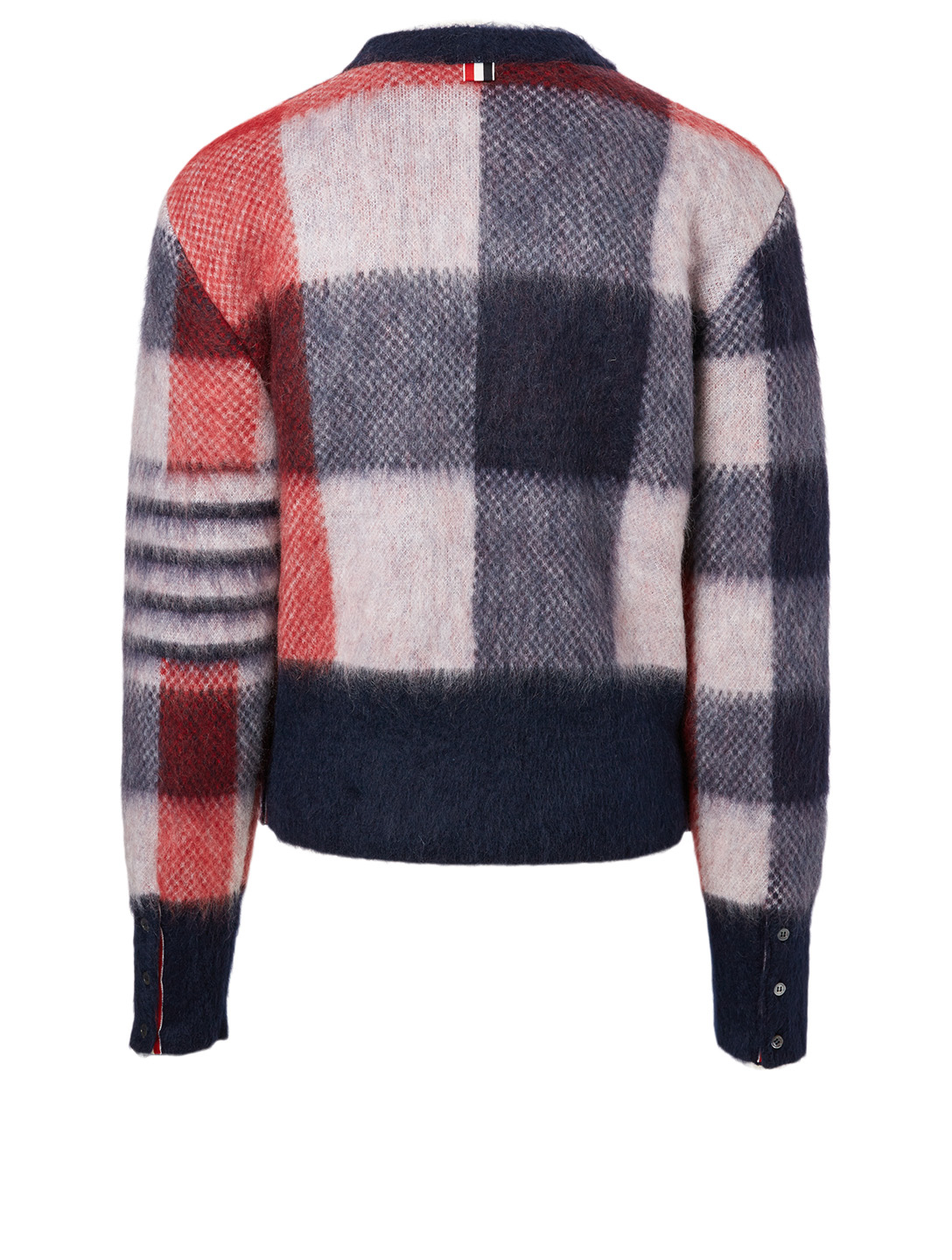 THOM BROWNE Mohair-Blend Buffalo Check Jacquard Sweater Men's Multi