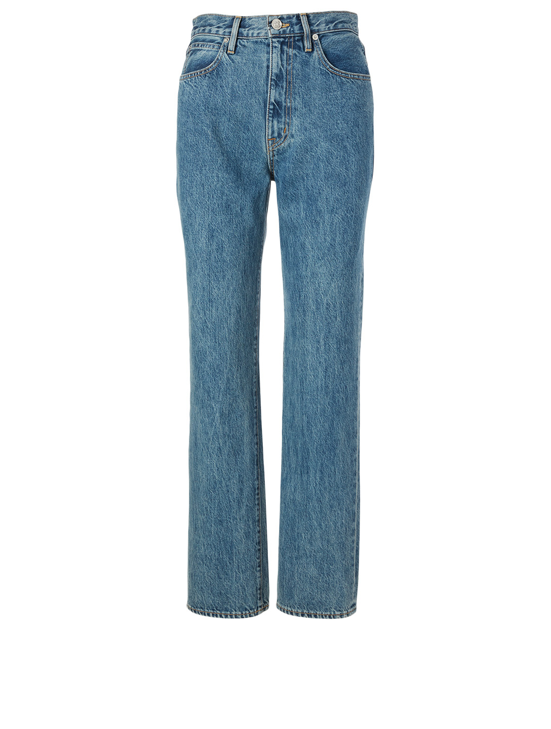 SLVRLAKE London High-Waisted Straight Jeans Women's Blue