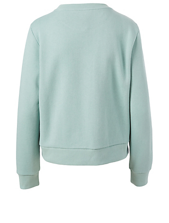 GUCCI Liberty Cotton Sweatshirt With Patch Women's Blue