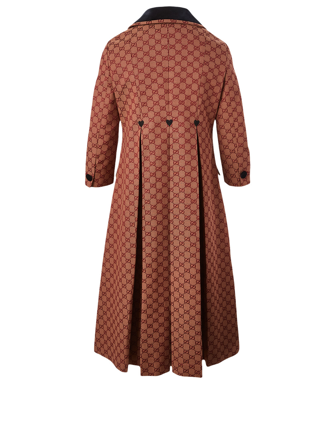 GUCCI Canvas Coat In GG Print Women's Beige