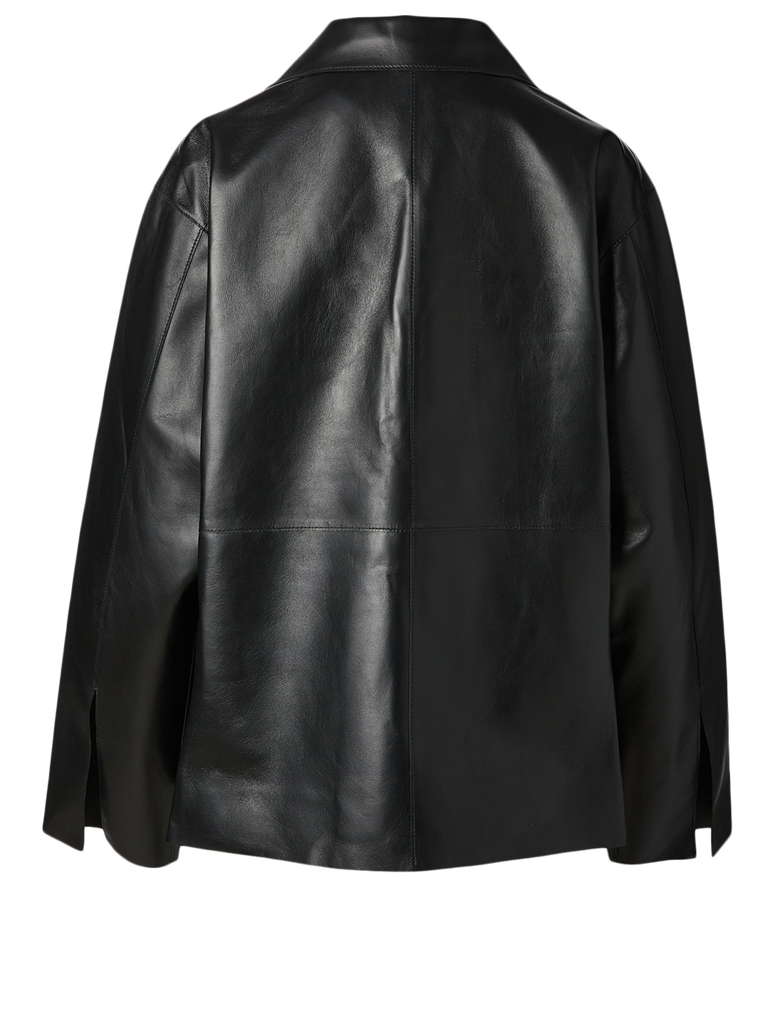 TOTÊME Avignon Leather Oversized Jacket Women's Black