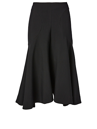 TOTÊME Mazille High-Waisted Midi Skirt Women's Black