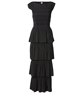 TOTÊME Aramon Tiered Midi Dress Women's Black