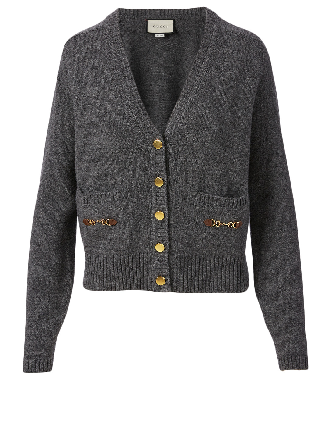 GUCCI Cashmere Cardigan With Horsebit Detail Women's Grey