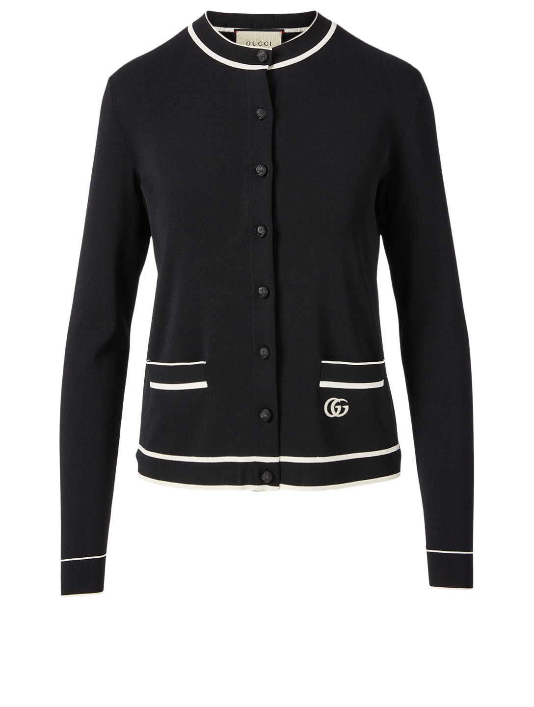 GUCCI Fine Viscose Cardigan Women's Multi