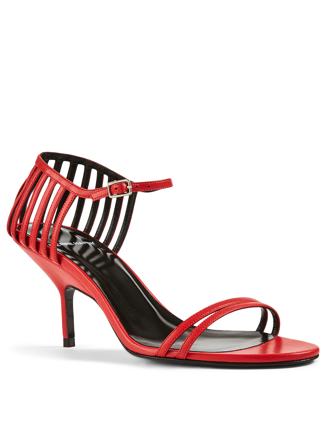 PIERRE HARDY Cage Leather Heeled Sandals Women's Red