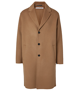 ACNE STUDIOS Double-Faced Wool Coat Men's Beige