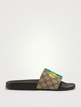 GUCCI GG Supreme Canvas Slide Sandals With Fake/Not Print Men's Multi
