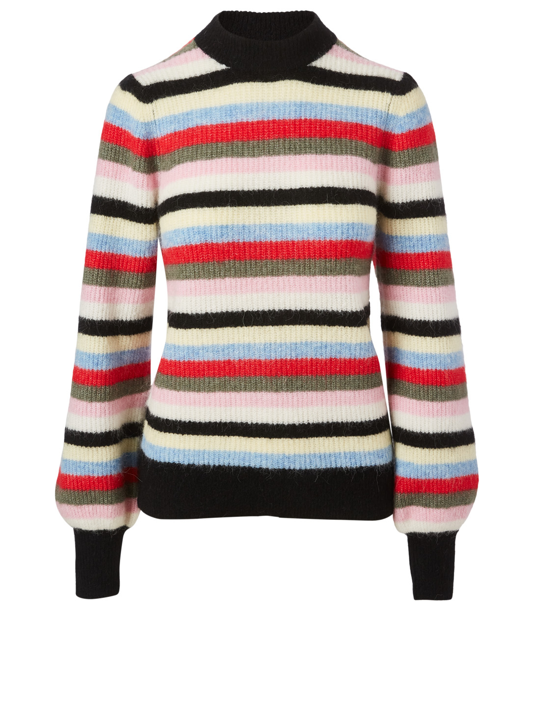GANNI Wool And Alpaca Sweater In Striped Print Women's Multi