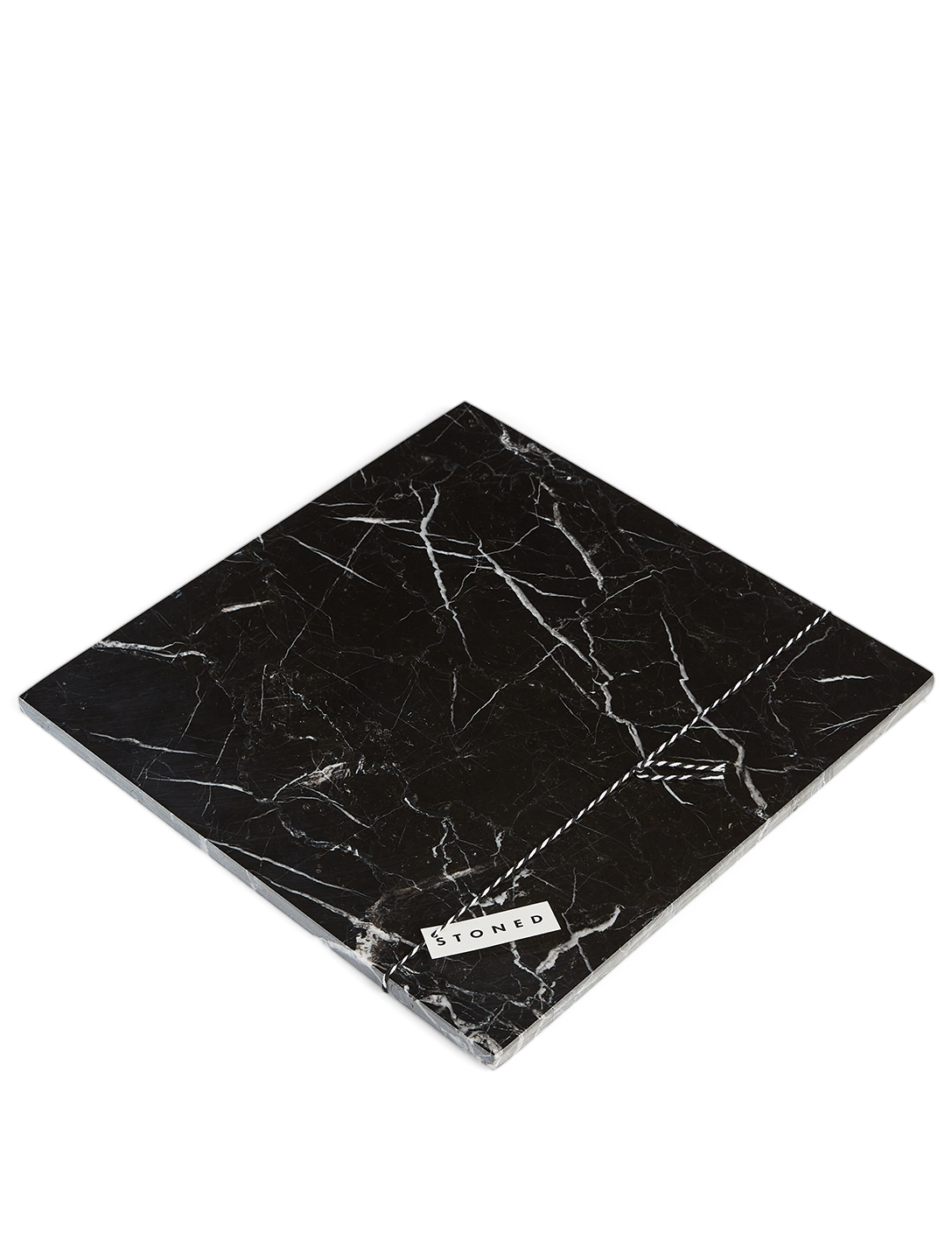 STONED MARBLE Medium Marble Square Serving Board Gifts Black