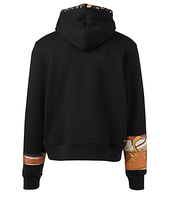 AMIRI Patch Scarf Olde English Cotton Hoodie Men's Black