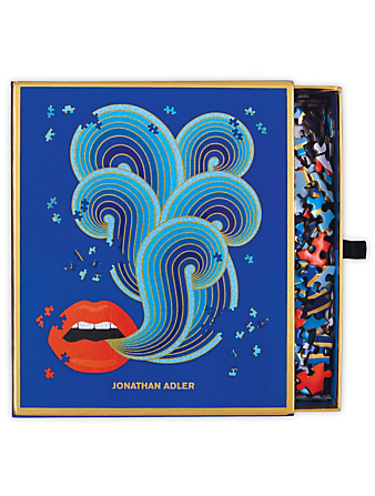 RAINCOAST Jonathan Adler 750 Piece Lips Shaped Puzzle Gifts