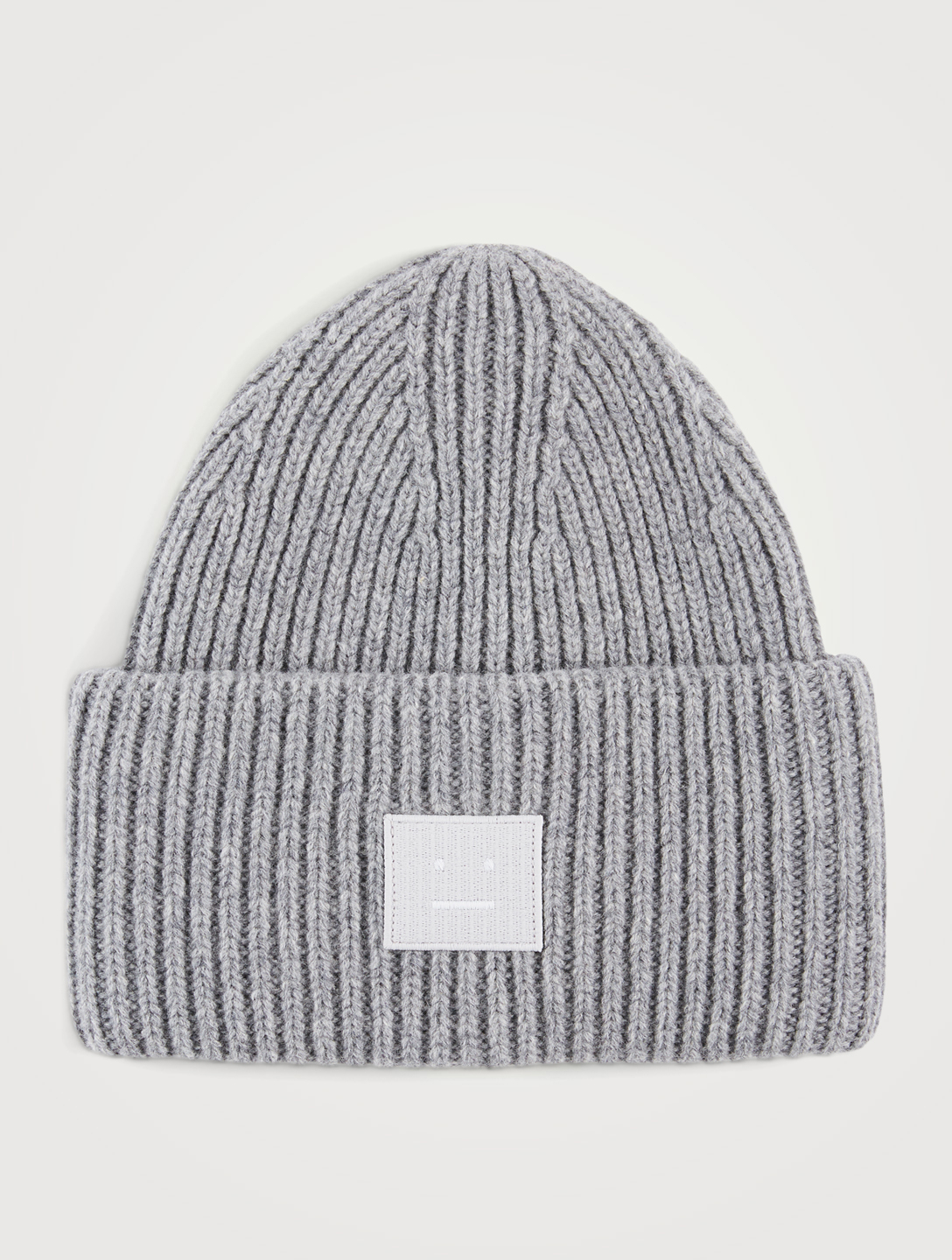 ACNE STUDIOS Face Patch Wool Toque Men's Grey