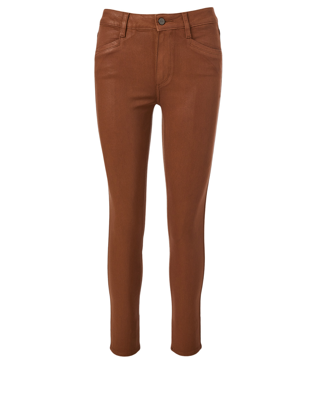 PAIGE Hoxton Coated Ankle Jeans Women's Brown