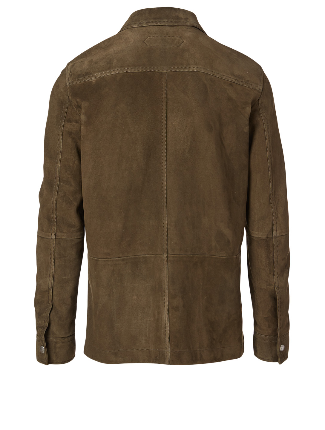 TOM FORD Suede Military Shirt Jacket Men's Green