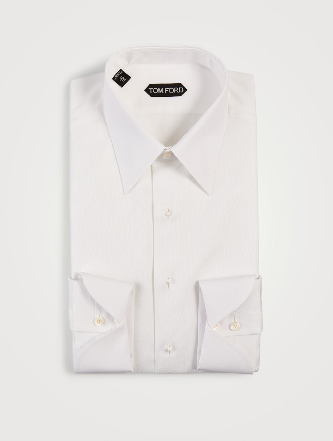 TOM FORD Cotton Poplin Tuxedo Shirt Men's White