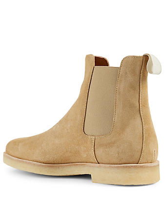 COMMON PROJECTS Suede Chelsea Boots Men's Beige