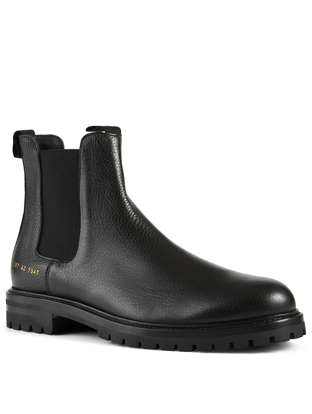 COMMON PROJECTS Winter Bumpy Leather Chelsea Boots Men's Black