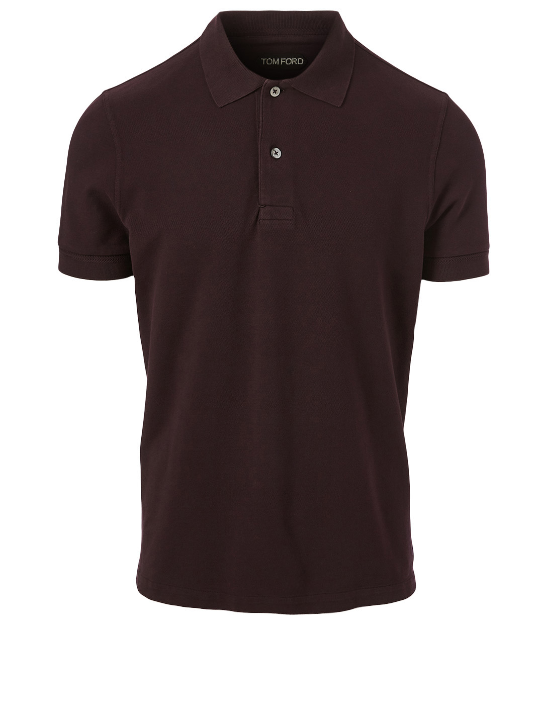 TOM FORD Cotton Short-Sleeve Polo Shirt Men's Red
