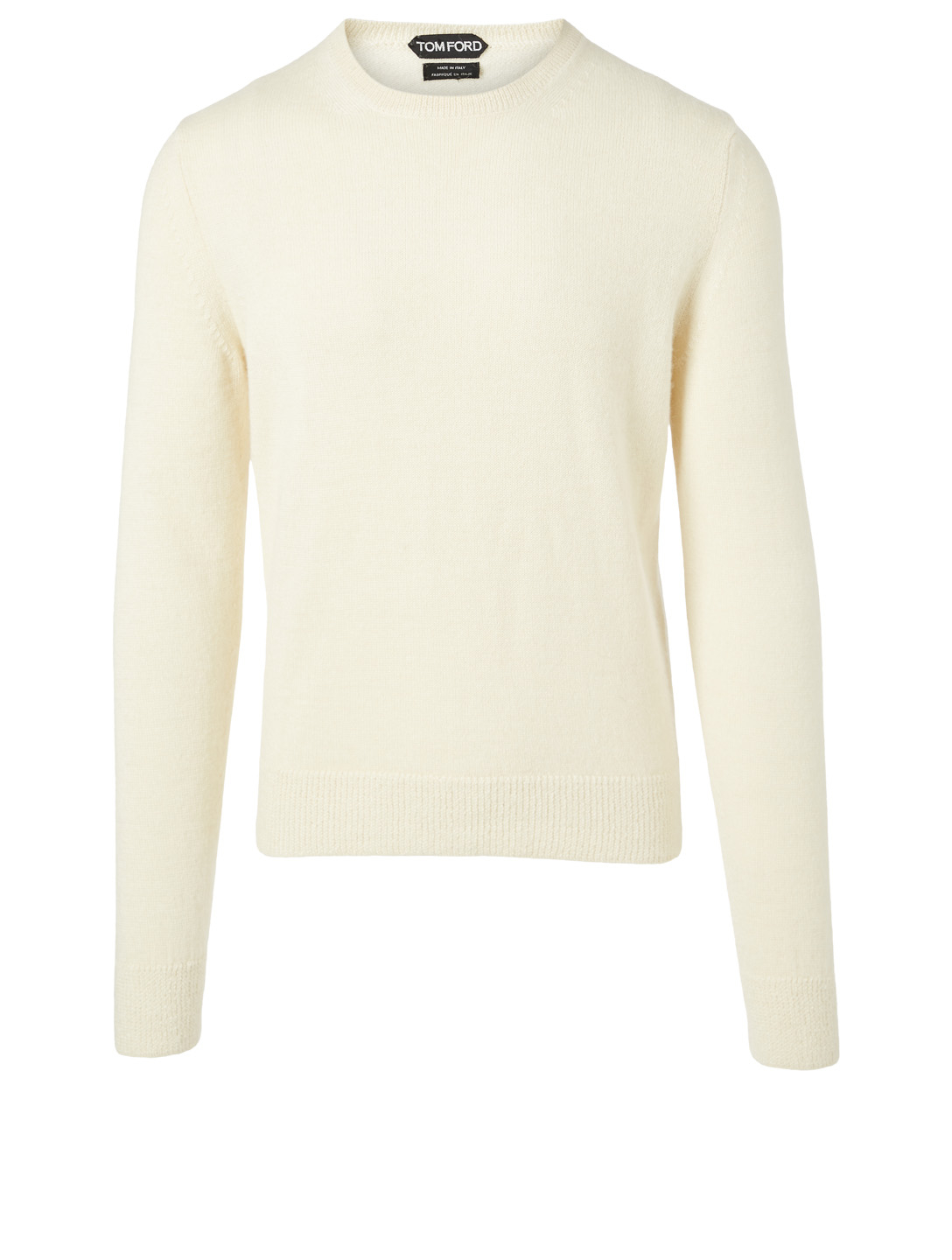 TOM FORD Alpaca And Silk Crewneck Sweater Men's White