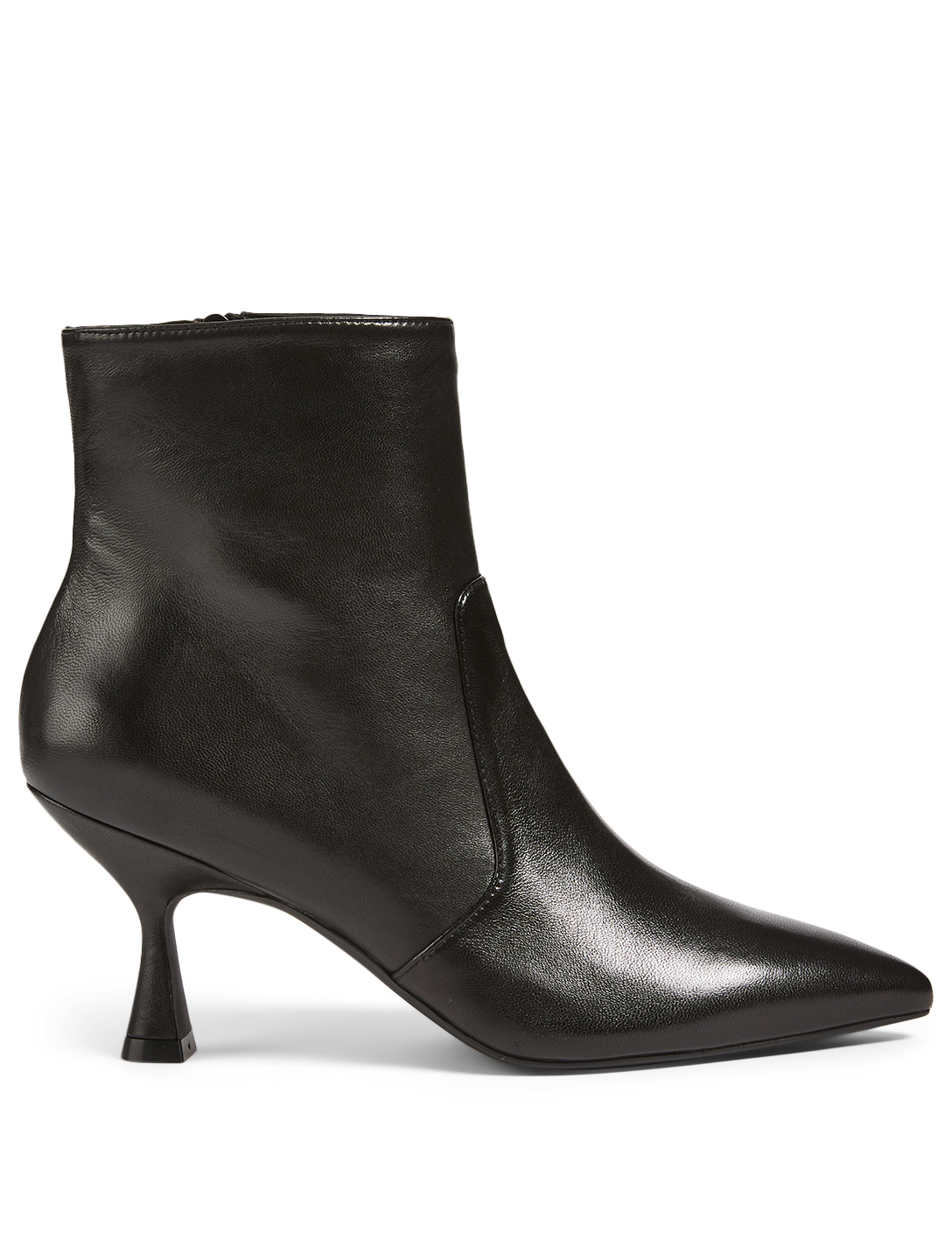 STUART WEITZMAN Melena 75 Leather Heeled Ankle Boots Women's Black