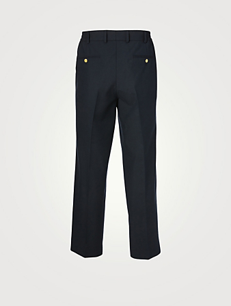 GUCCI Wool And Mohair Pants Men's Blue