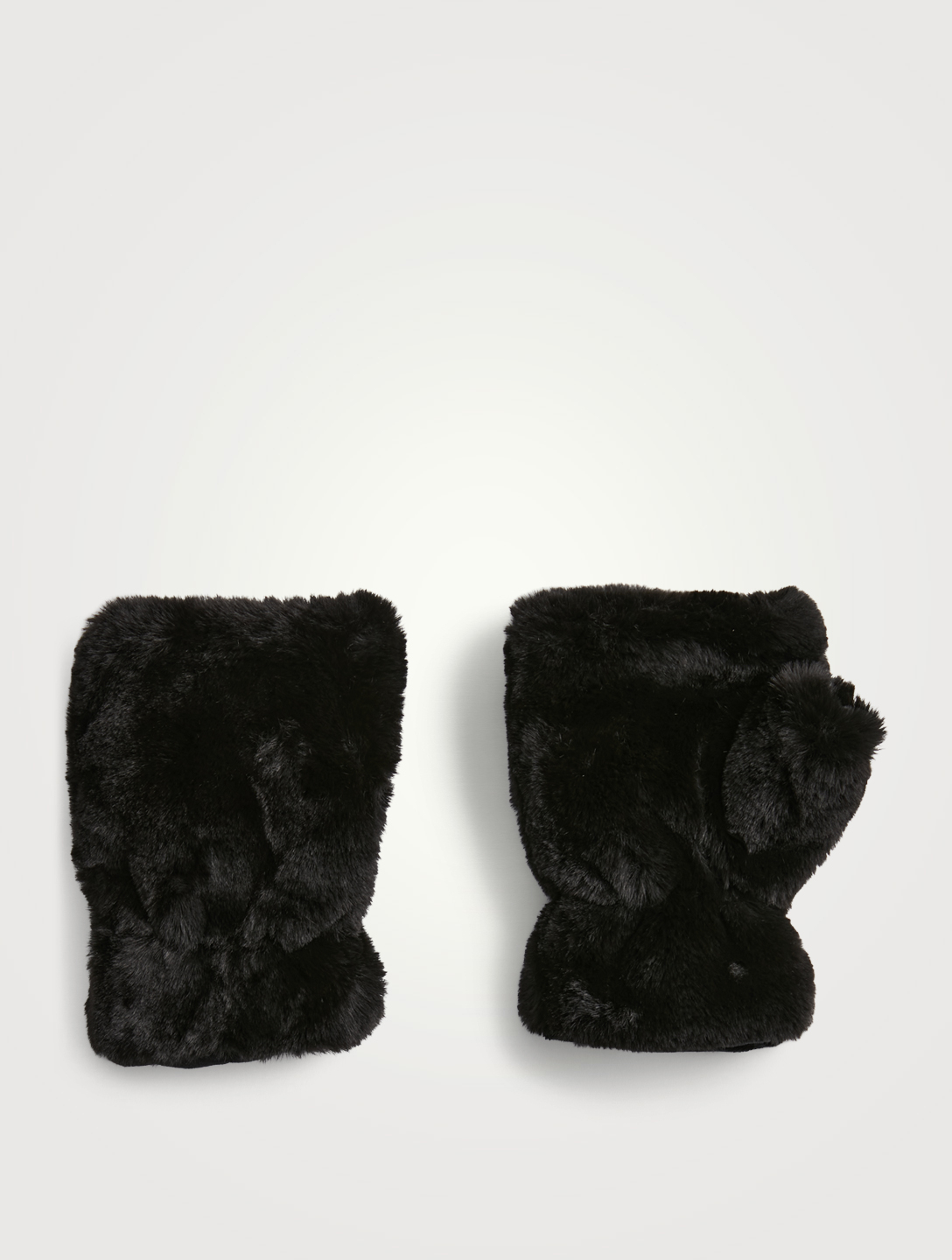 APPARIS Ariel Recycled Faux Fur Gloves Women's Black