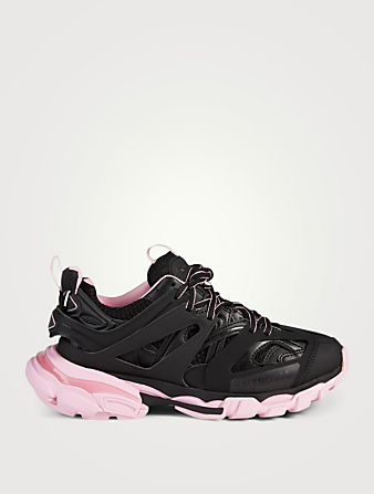 BALENCIAGA Track Nylon And Mesh Sneakers Women's Black