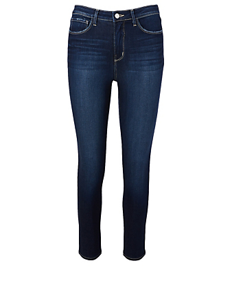 L'AGENCE Margot High-Waisted Skinny Jeans Women's Blue