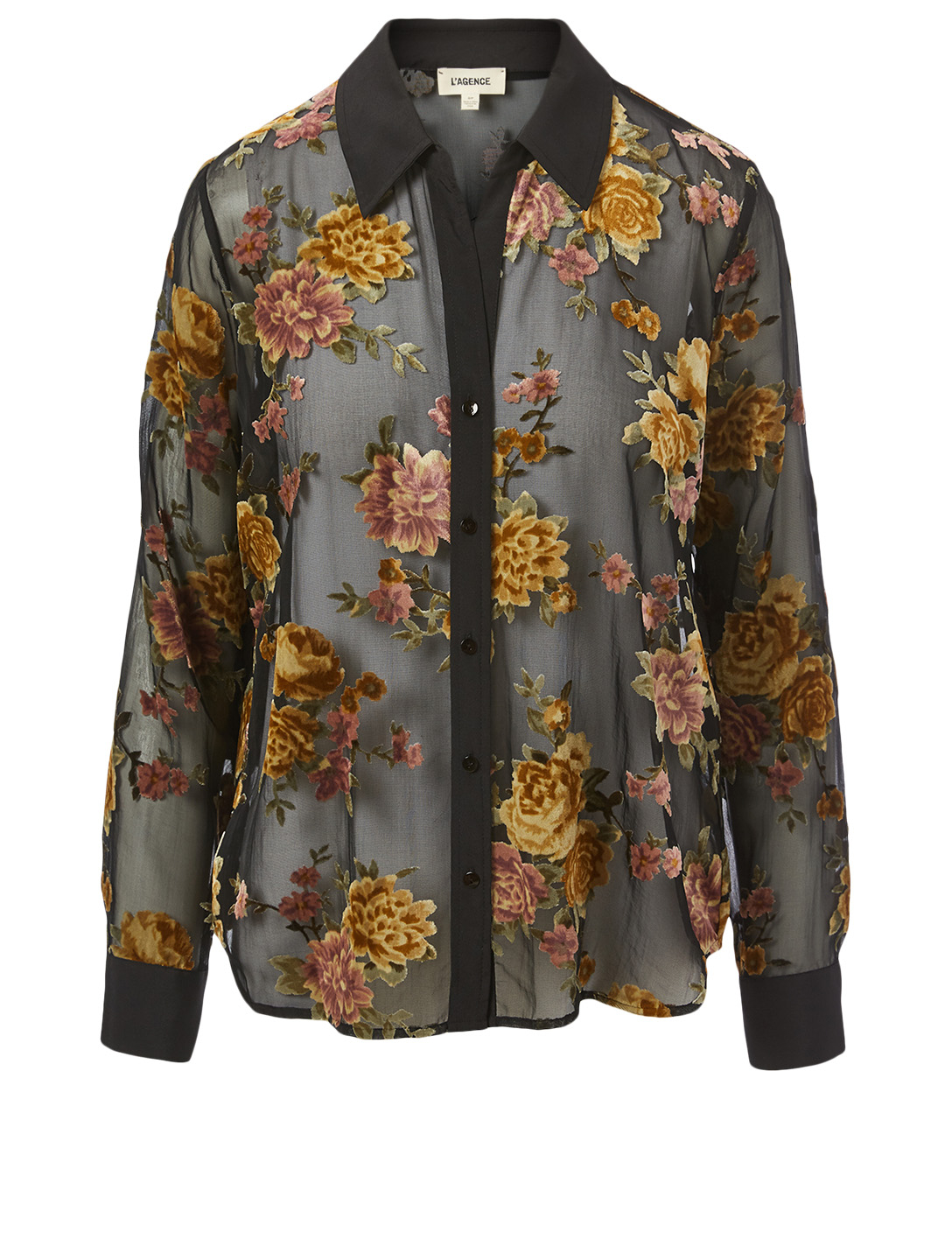 L'AGENCE Hailie Blouse In Floral Print Women's Multi