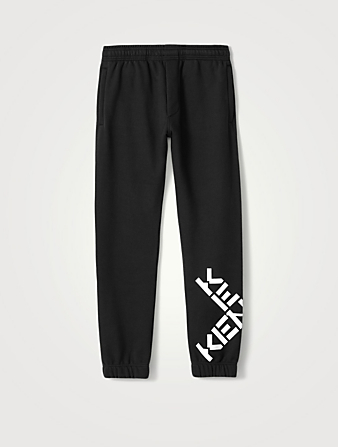 KENZO Cotton-Blend Jogger Pants With Logo Men's Black