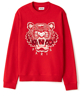 KENZO Cotton Tiger Sweatshirt Men's Red