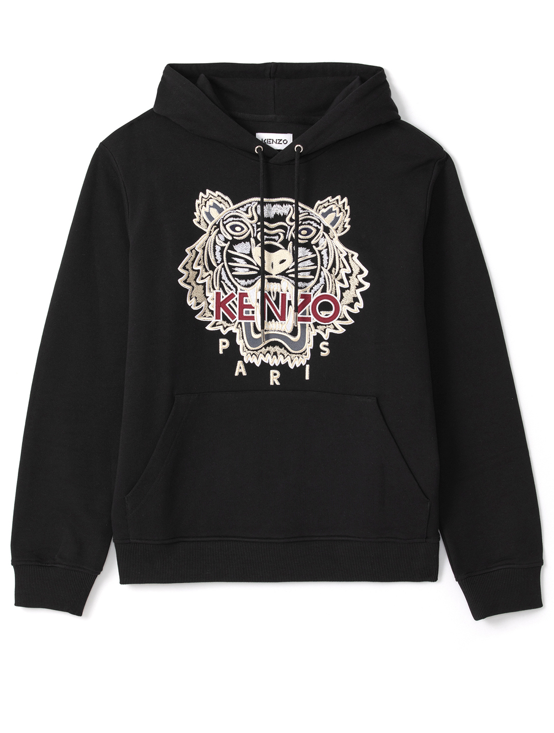 KENZO Cotton Tiger Hoodie Men's Black