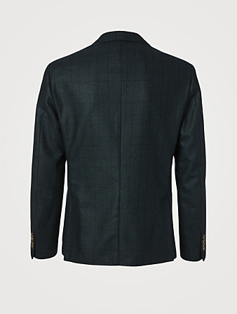 ELEVENTY Wool Jacket In Plaid Print Men's Green