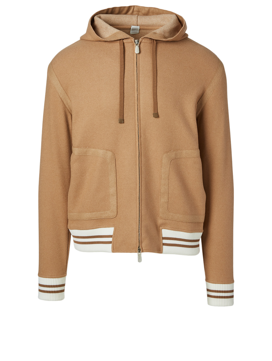 ELEVENTY Wool Zip Jacket With Hood Men's Beige