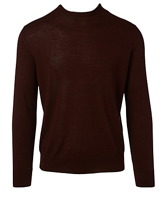 ELEVENTY Wool And Silk Crewneck Sweater Men's Red