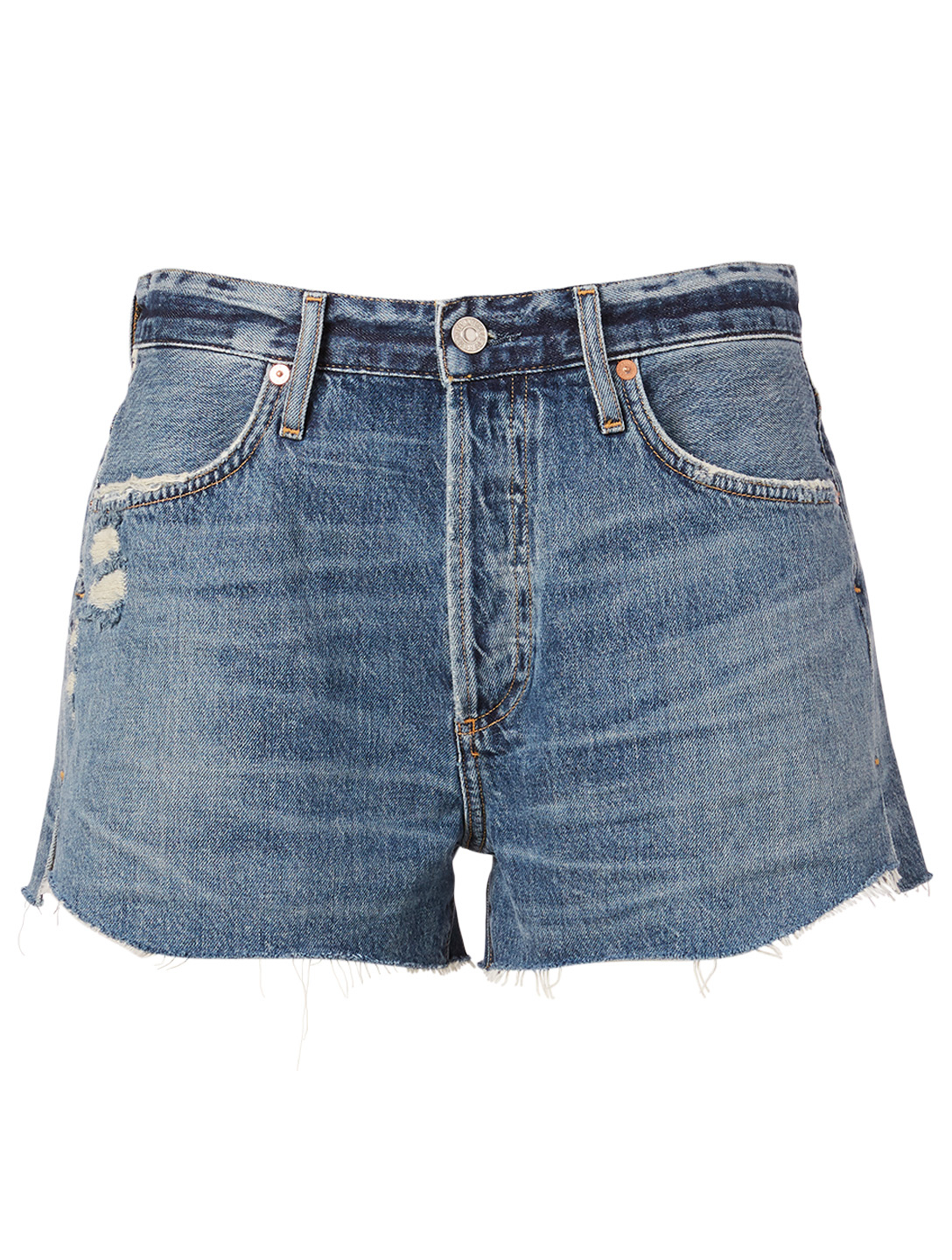 CITIZENS OF HUMANITY Annabelle Organic Cotton Denim Shorts Women's Blue