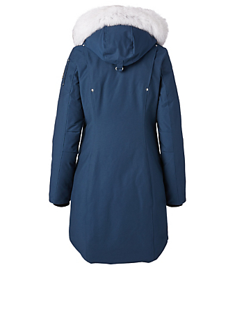 MOOSE KNUCKLES Stirling Down Parka With Fur Hood Women's Blue