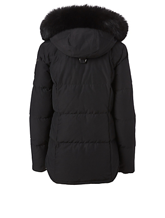 MOOSE KNUCKLES Rathnelly Down Jacket With Fur Hood Women's Black
