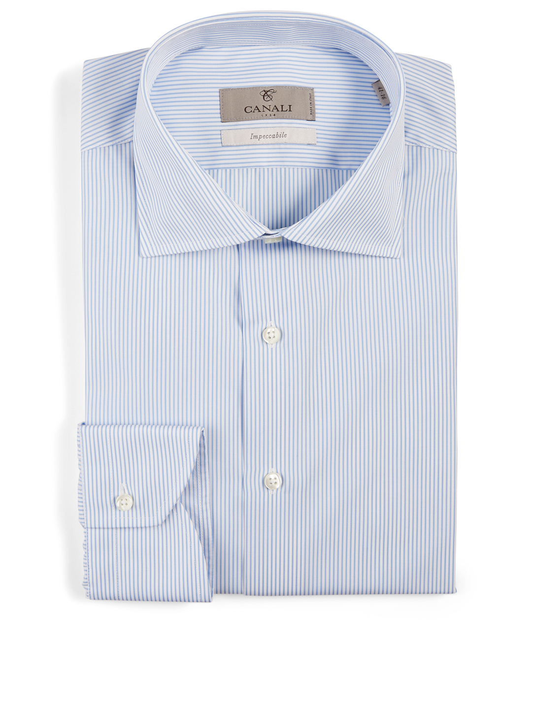 CANALI Impeccable Cotton Shirt In Striped Print Men's Blue