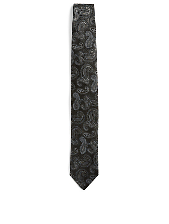CANALI Silk Tie In Paisley Print Men's Multi