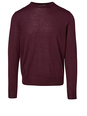 CANALI Wool Crewneck Sweater Men's Red