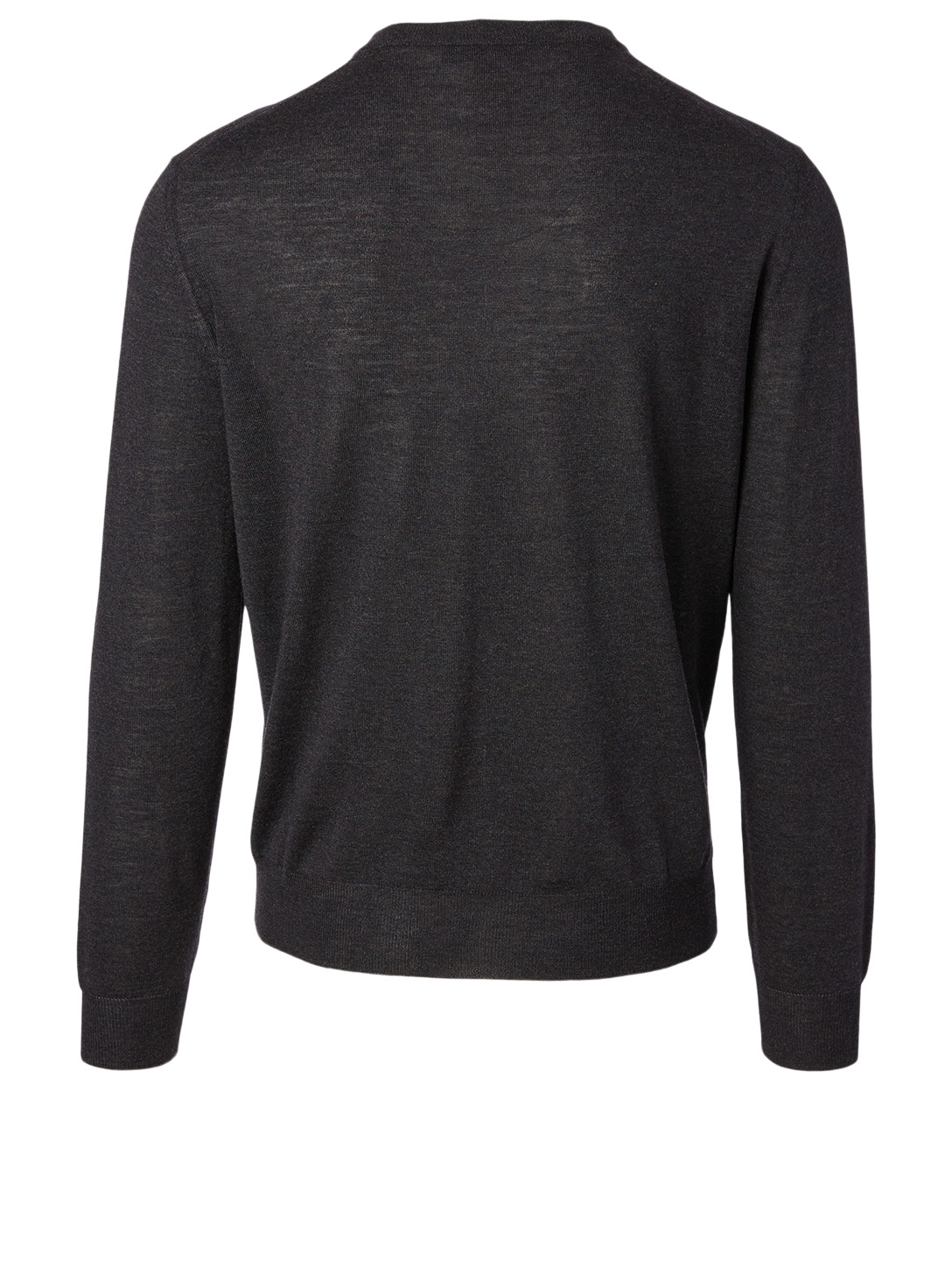 CANALI Wool V-Neck Sweater Men's Black