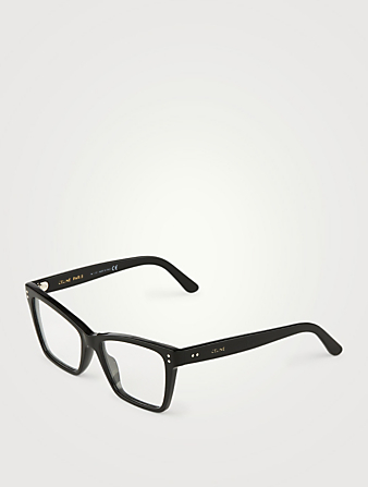 CELINE Rectangular Optical Glasses Women's Black