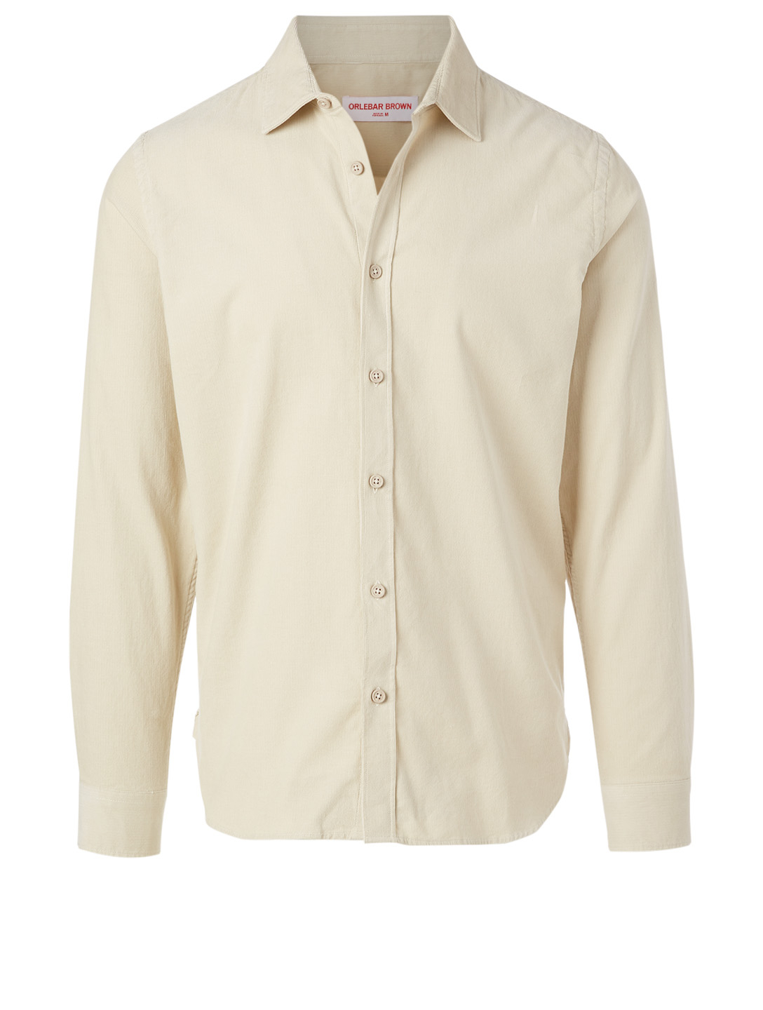 ORLEBAR BROWN Giles Corduroy Tailored Shirt Men's Beige