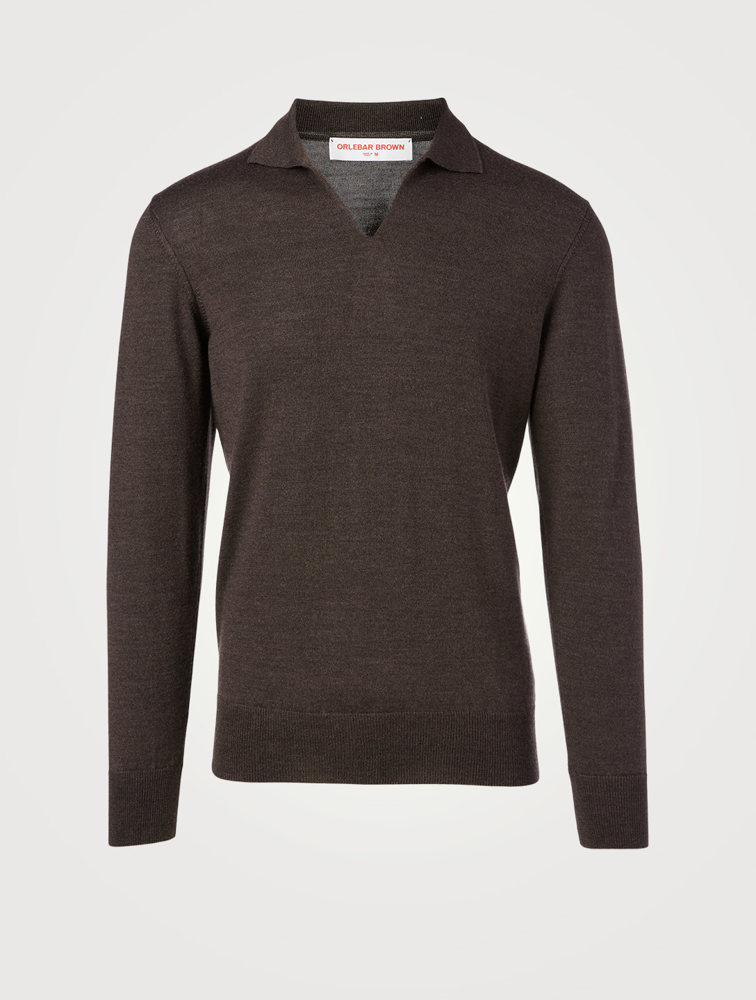 ORLEBAR BROWN Mallory Wool And Silk Polo Shirt Men's Grey
